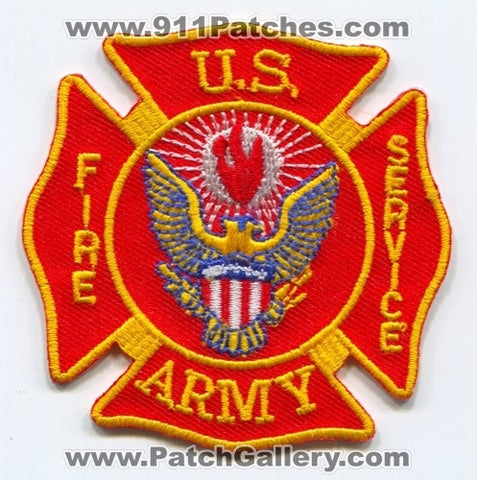 US Army Fire Service Military Patch No State Affiliation