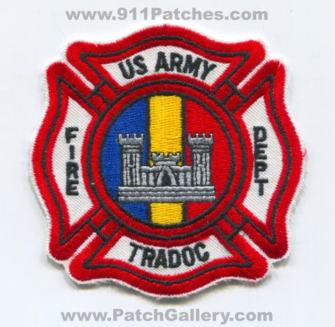 US Army TRADOC Fire Department Military Patch No State Affiliation