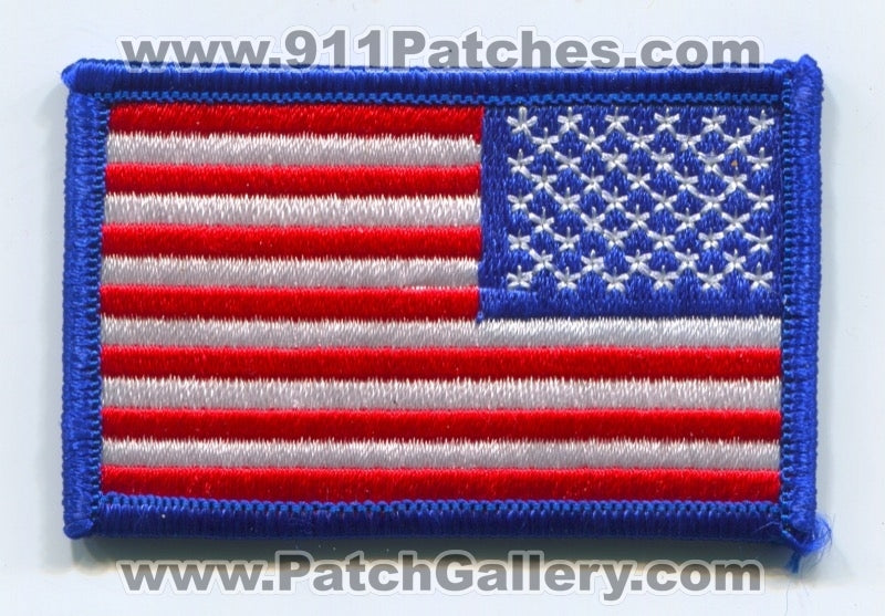 United States of America USA American Flag Patch No State Affiliation Blank Generic Stock