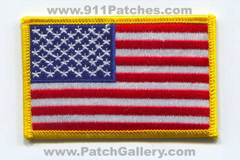 United States of America USA American Flag Patch Left Sleeve Regular No State Affiliation Blank Generic Stock v2