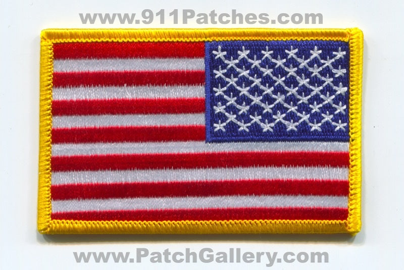 United States of America USA American Flag Patch Right Sleeve Reverse No State Affiliation Blank Generic Stock
