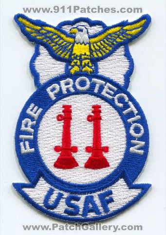 United States Air Force USAF Fire Protection Captain Military Patch No State Affiliation