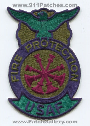 United States Air Force USAF Fire Protection Deputy Chief Military Patch No State Affiliation