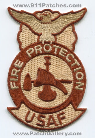 United States Air Force USAF Fire Protection Firefighter Military Patch No State Affiliation