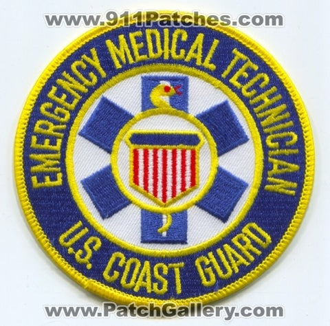 United States Coast Guard Emergency Medical Technician EMT EMS Military Patch No State Affiliation
