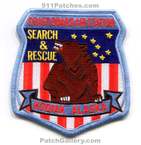 Coast Guard Air Station Kodiak Search and Rescue EMS USCG Military Patch Alaska AK