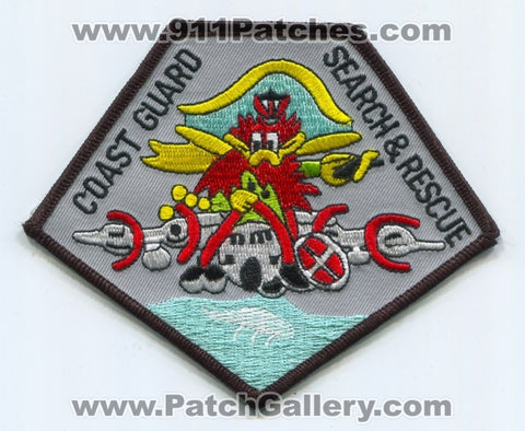 United States Coast Guard USCG Search and Rescue Military Patch No State Affiliation