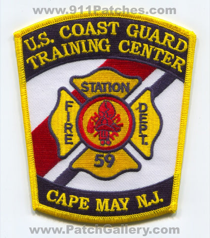 USCG Training Center Cape May Fire Department Station 59 Patch New Jersey NJ