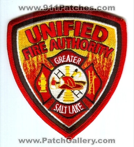 Unified Fire Authority Greater Salt Lake Department Patch Utah UT