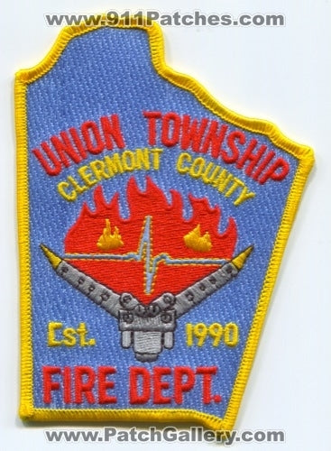 Union Township Fire Department Clermont County Patch Ohio OH