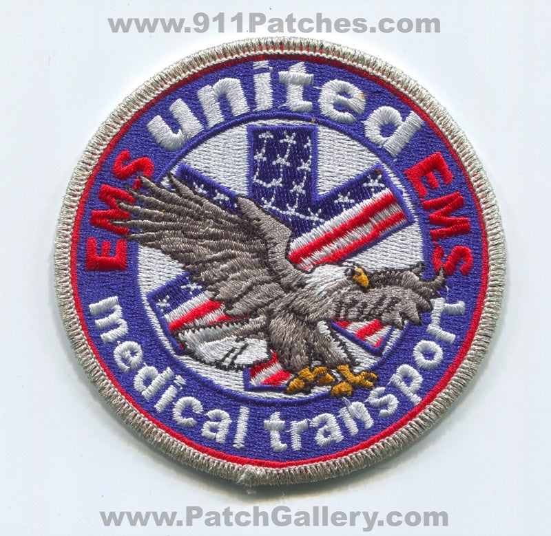 United Medical Transport Emergency Medical Services EMS Patch Unknown State
