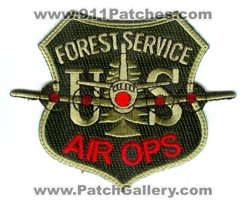 United States Forest Service USFS Air Ops Forest Fire Wildfire Wildland Patch Washington DC