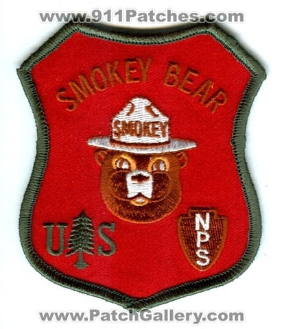 Smokey the Bear Forest Fire Wildfire Wildland NPS USFS Patch No State Affiliation