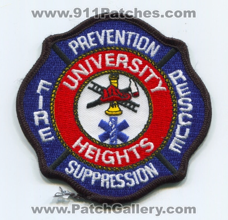 University Heights Fire Rescue Department Patch Ohio OH