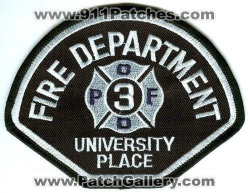 University Place Fire Department Pierce County District 3 Patch Washington WA