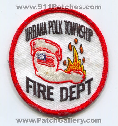 Urbana Polk Township Fire Department Patch Iowa IA