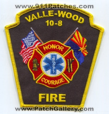 Valle-Wood Fire Department 10-8 Patch Arizona AZ