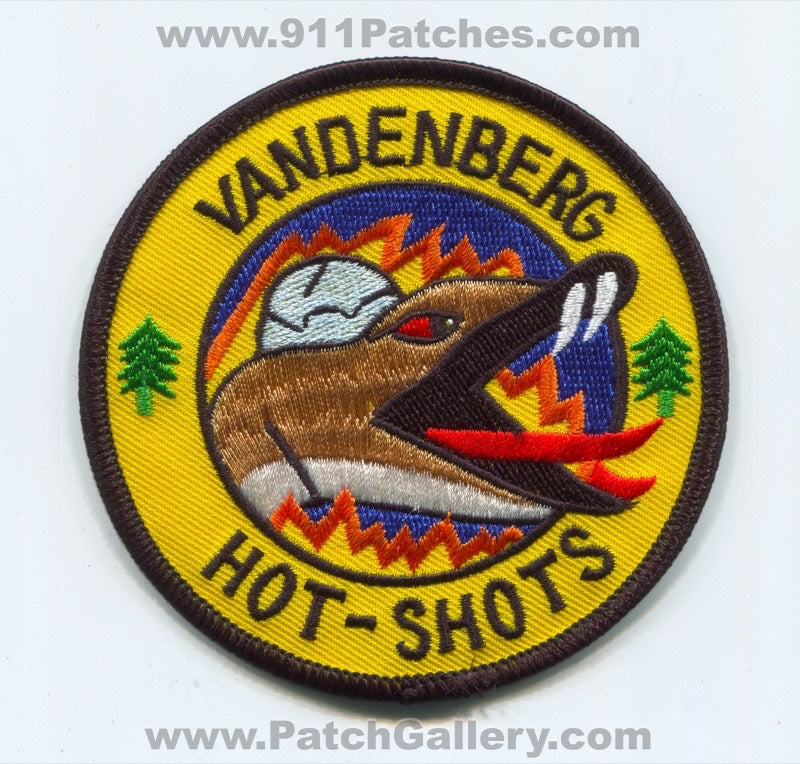 Vandenberg Air Force Base AFB Hot Shots Fire USAF Military Patch California CA
