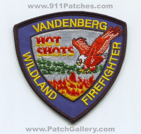 Vandenberg Air Force Base AFB Wildland Firefighter Hot Shots USAF Military Patch California CA