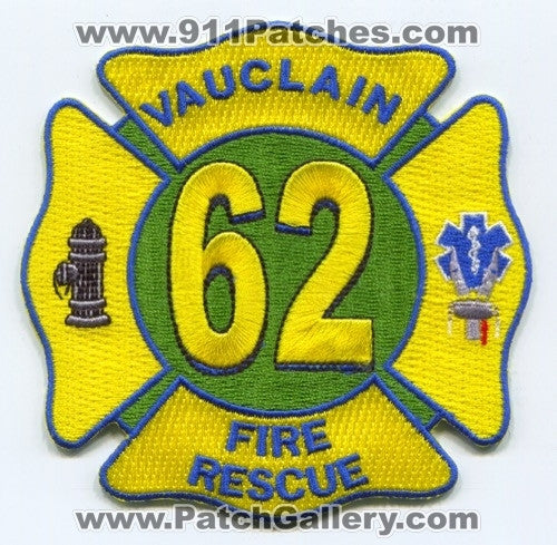 Vauclain Fire Rescue Department 62 Patch Pennsylvania PA