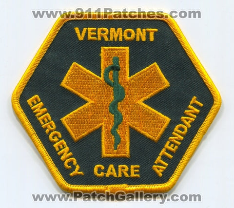 Vermont State Emergency Care Attendant ECA EMS Patch Vermont VT