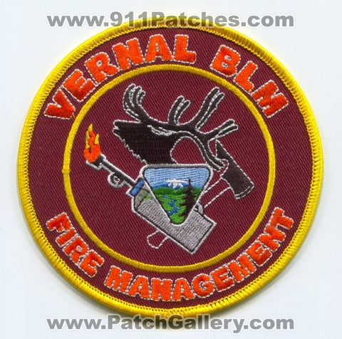 Vernal Bureau of Land Management BLM Fire Management Patch Utah UT