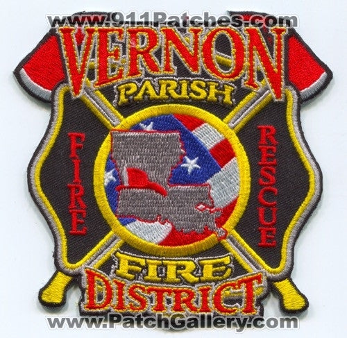 Vernon Parish Fire Rescue District Patch Louisiana LA