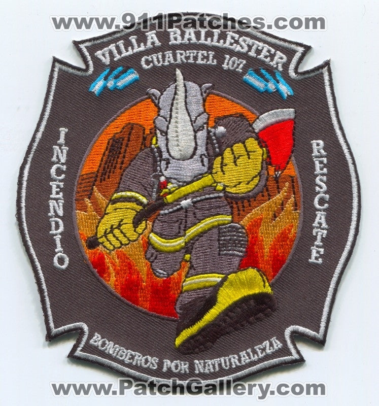 Argentina - Villa Ballester Fire Department Engine 107 Patch