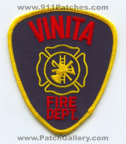 Vinita Fire Department Patch Oklahoma OK
