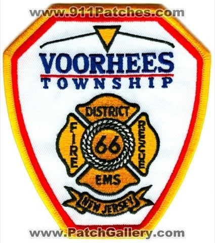 Voorhees Township Fire District 66 Patch New Jersey NJ