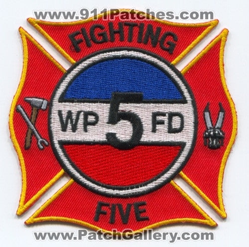 WPFD Fire Department 5 Patch Unknown State