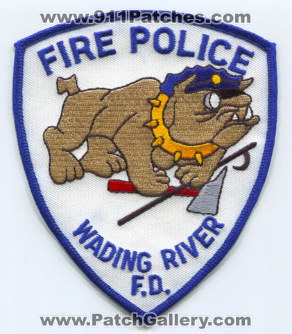 Wading River Fire Department Fire Police Patch New York NY