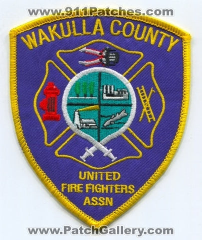 Wakulla County United Firefighters Association Patch Florida FL