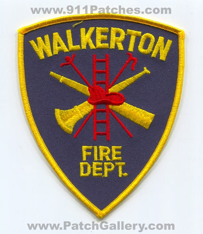 Walkerton Fire Department Patch Indiana IN