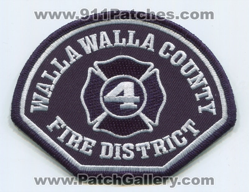 Walla Walla County Fire District 4 Patch Washington WA