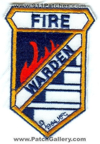 Warden Fire Department Patch Washington WA