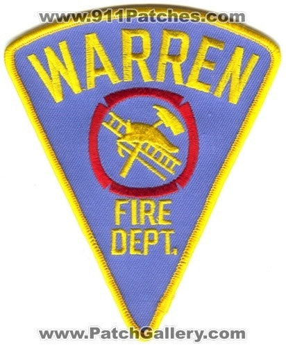 Warren Fire Department Patch Indiana IN