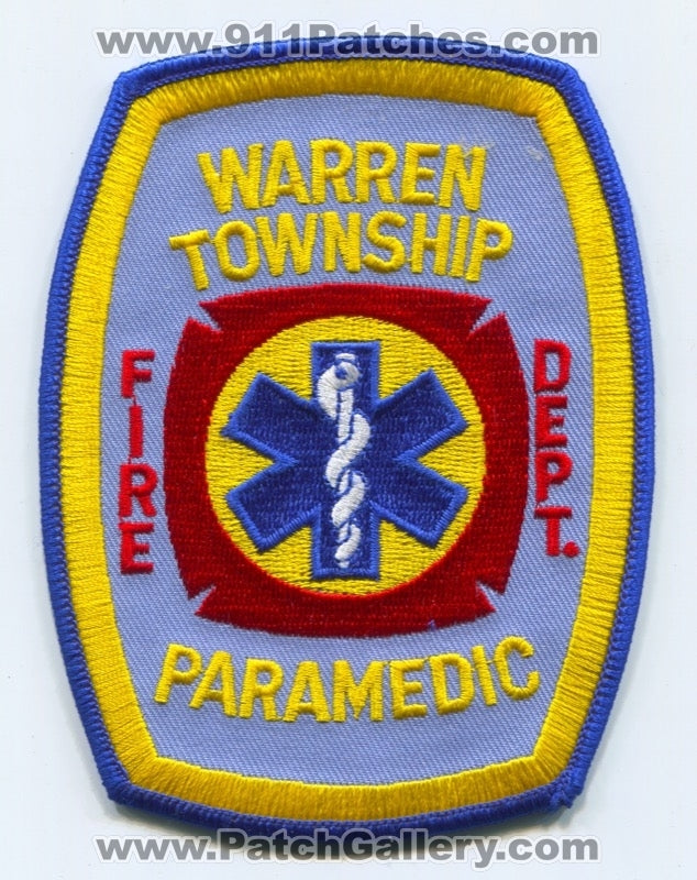 Warren Township Fire Department Paramedic EMS Patch Ohio OH