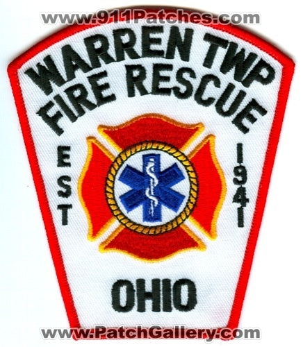 Warren Township Fire Rescue Department Patch Ohio OH