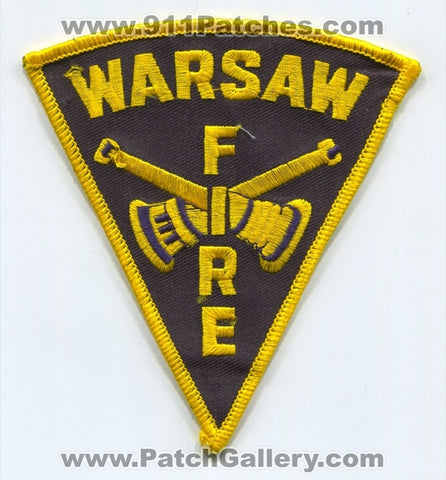 Warsaw Fire Department Patch Indiana IN