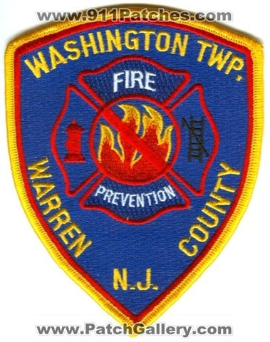 Washington Township Fire Department Fire Prevention Patch New Jersey NJ