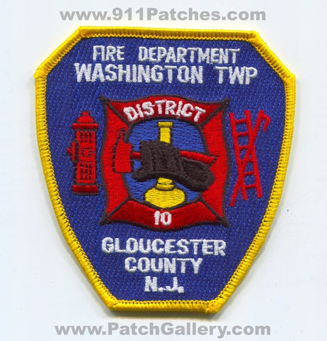 Washington Township Fire Department District 10 Patch New Jersey NJ