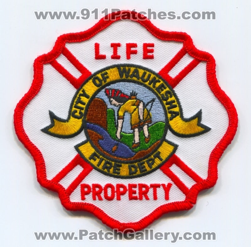 Waukesha Fire Department Patch Wisconsin WI