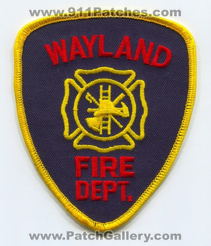 Wayland Fire Department Patch Michigan MI