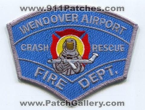 Wendover Airport Fire Department Crash Rescue CFR Patch Utah UT