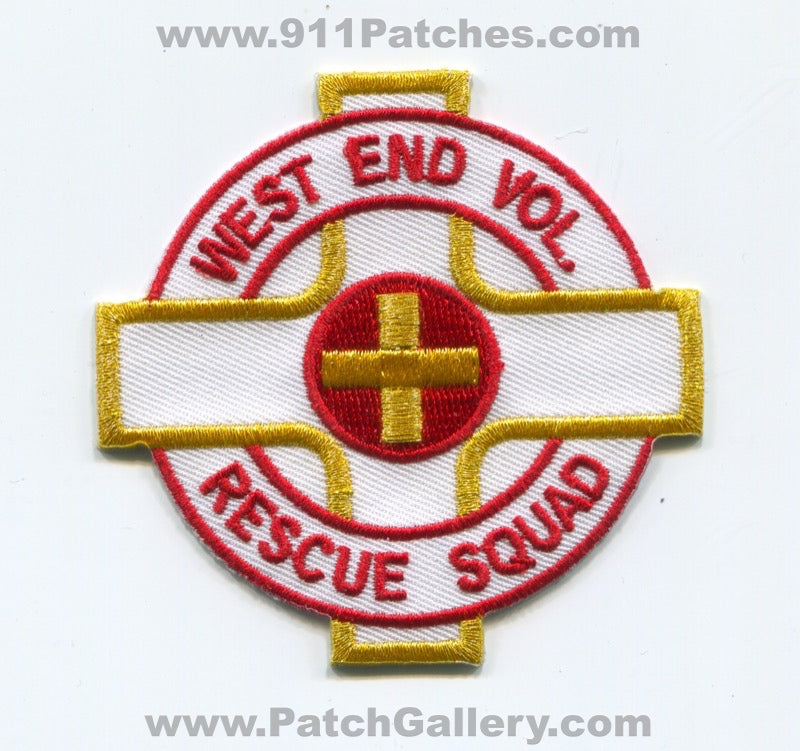 West End Volunteer Rescue Squad Ambulance EMS Patch Virginia VA