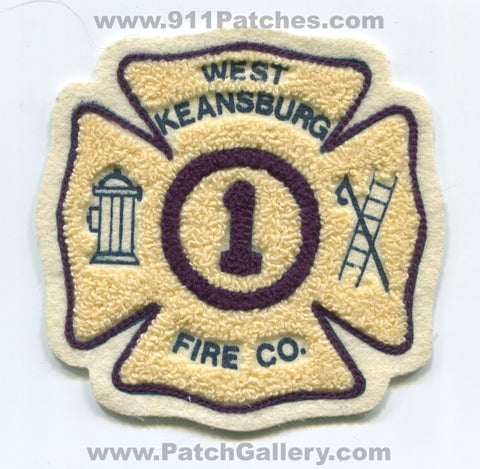 West Keansburg Fire Company 1 Patch New Jersey NJ