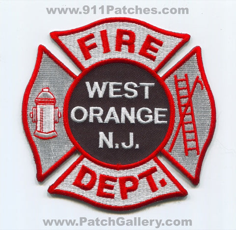 West Orange Fire Department Patch New Jersey NJ
