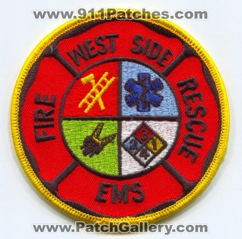 West Side Fire Rescue EMS Department Patch West Virginia WV