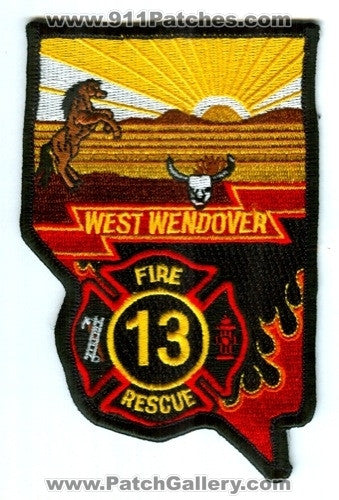 West Wendover Fire Rescue Department 13 Patch Nevada NV